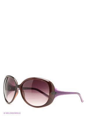 Солнцезащитные очки United Colors of Benetton. Цвет: бордовый, коричневый
