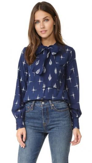 Блуза Rush Warm. Цвет: голубой