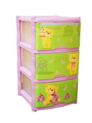 Детский комод для детской комнаты Bears Tutti 3 ящика Little Angel. Цвет: бежевый