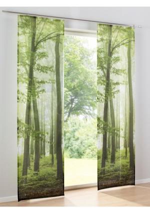 Японская штора Heine Home. Цвет: зеленый