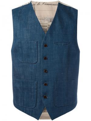 Жилет с накладными карманами Al Duca D'Aosta 1902. Цвет: синий