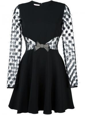 Платье с панелями в горох Giamba. Цвет: чёрный