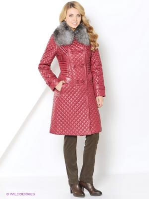 Пальто Lanicka. Цвет: бордовый