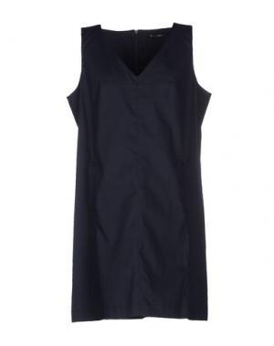 Короткое платье OLLY DOO. Цвет: темно-синий