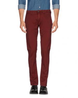 Повседневные брюки HAMPTONS. Цвет: красно-коричневый