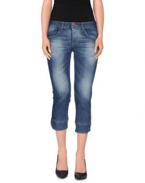 Джинсовые брюки-капри FIORUCCI. Цвет: синий