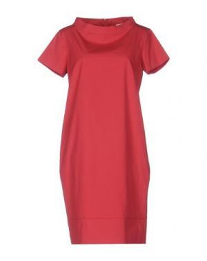 Короткое платье ANTONELLI. Цвет: красный