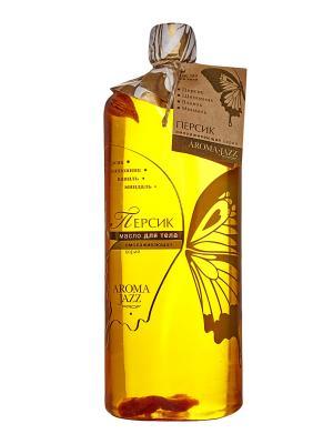 Масло жидкое для тела Персик, 1000 мл АРОМАДЖАЗ. Цвет: желтый