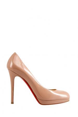 Туфли из лакированной кожи New Simple Pump 120 Christian Louboutin. Цвет: nude