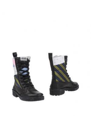 Полусапоги и высокие ботинки SPRINGA. Цвет: темно-синий
