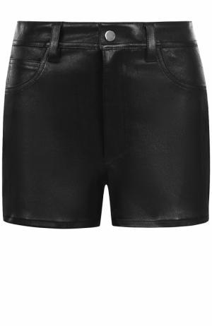 Кожаные мини-шорты Helmut Lang. Цвет: черный
