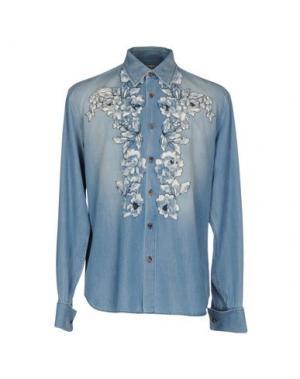 Джинсовая рубашка ERMANNO SCERVINO. Цвет: синий
