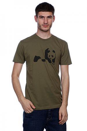 Футболка  Easy Print Panda Premium Army Enjoi. Цвет: зеленый
