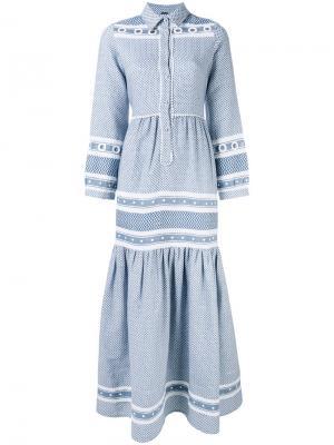 Drop skirt buttoned dress Dodo Bar Or. Цвет: синий