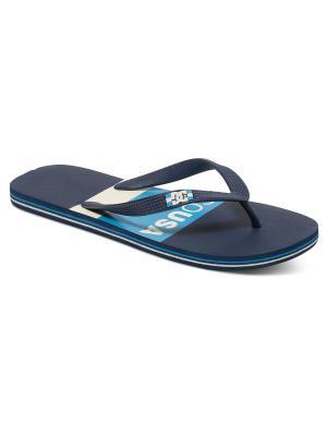 Шлепанцы DC Shoes. Цвет: синий, серый