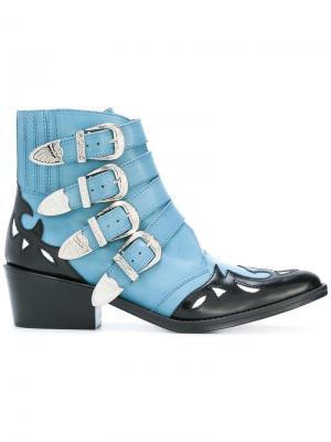 Ботинки в стиле вестерн Toga Pulla. Цвет: синий