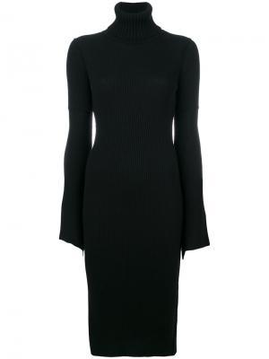 Облегающее платье с расклешенными рукавами Dondup. Цвет: чёрный
