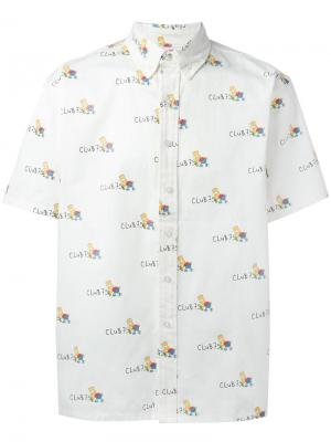 Рубашка с рисунком Bart Joyrich. Цвет: телесный
