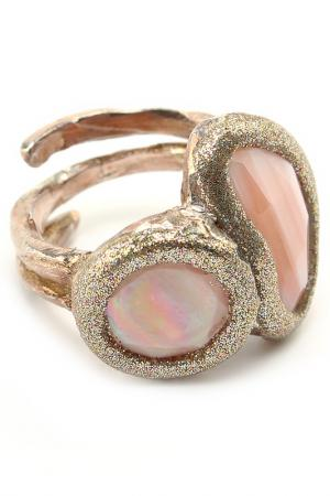 Кольцо Estrosia. Цвет: розовый