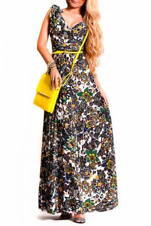 Платье LASKANY collezioni. Цвет: желтый