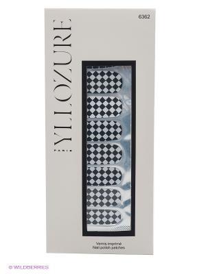 Лаковый стикер для ногтей Гламур, тон 62 ИЛЛОЗУР. Цвет: светло-серый, черный