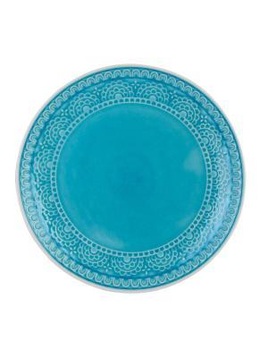 Набор тарелок обеденных TONGO. Цвет: светло-голубой, бирюзовый