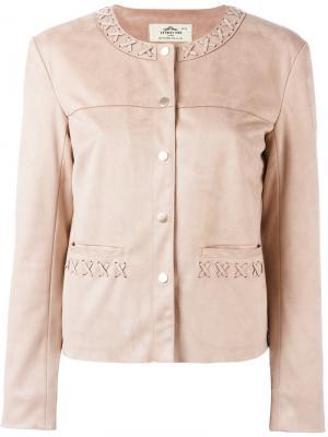 Stitched detail jacket Urbancode. Цвет: розовый и фиолетовый