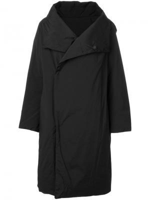 Пальто с большим воротником Plantation. Цвет: чёрный