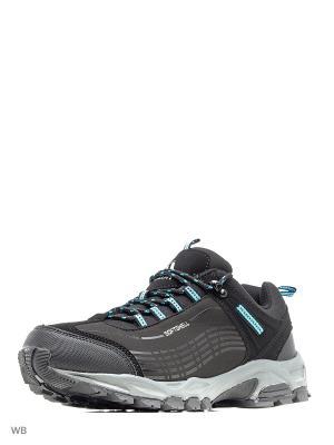 Ботинки Milton. Цвет: черный, голубой