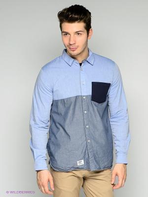 Рубашка Addict. Цвет: серый, темно-синий, синий