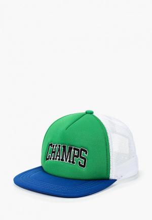 Бейсболка Topman. Цвет: зеленый