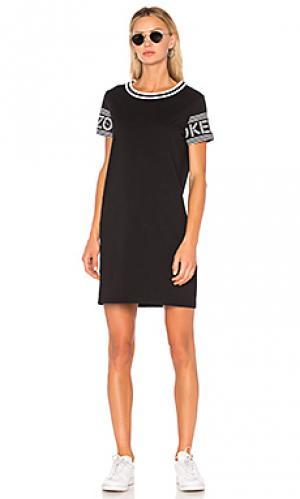 Спортивное платье-рубашка Kenzo. Цвет: черный