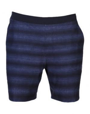 Пляжные брюки и шорты HURLEY. Цвет: темно-синий