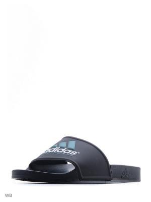 Шлепанцы ADILETTE EQT SLIDES Adidas. Цвет: черный