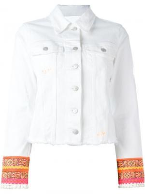 Пиджак с вышивкой на манжетах Dont Cry Don't. Цвет: белый
