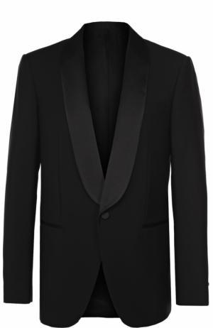 Шерстяной однобортный пиджак с шалевыми лацканами Balenciaga. Цвет: черный
