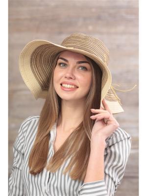 Шляпа Krife. Цвет: бежевый, коричневый
