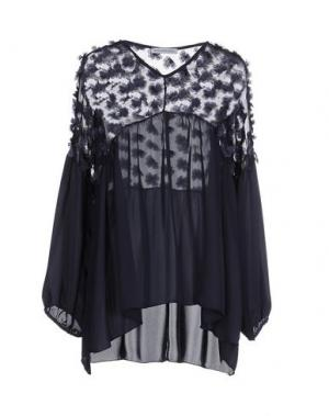Блузка ANGELA MELE MILANO. Цвет: темно-синий