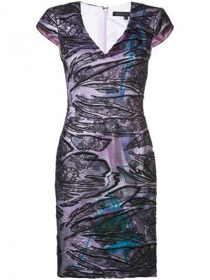 Кружевное платье Rubin Singer. Цвет: чёрный