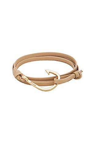 Браслет leather hook Miansai. Цвет: металлический золотой