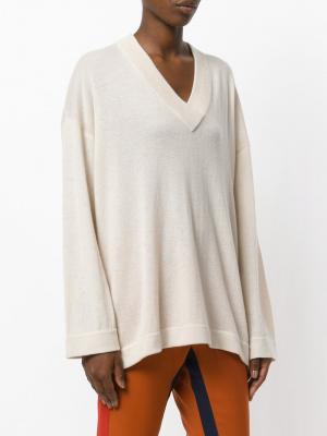 Свободный пуловер Antonia Zander. Цвет: телесный