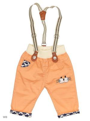 Бриджи с подтяжками Kidly. Цвет: светло-оранжевый