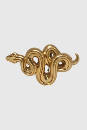 Металлическая пряжка Serpent Kieselstein-Cord. Цвет: бронзовый