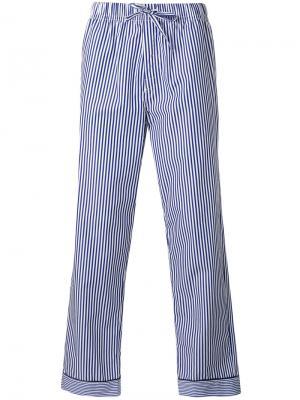 Полосатые пижамные брюки Otis Batterbee. Цвет: белый
