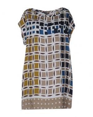 Короткое платье MALÌPARMI. Цвет: белый