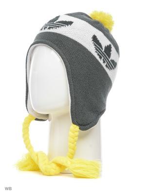Шапка PERUVIAN STYLE Adidas. Цвет: черный, желтый, белый