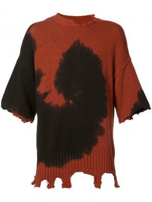 Джемпер с потертым эффектом Ovadia & Sons. Цвет: красный