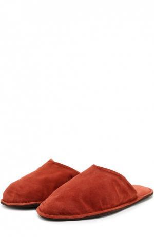 Домашние туфли из замши Homers At Home. Цвет: красный