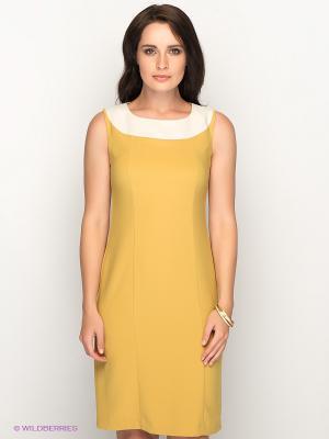 Платье AKIMBO. Цвет: горчичный, молочный