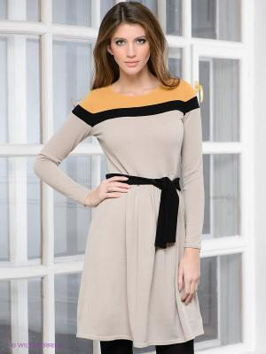 Платье Hammond. Цвет: бежевый, горчичный, черный